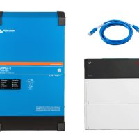 Victron Full Hybrid Inverter with BYD 5 Kwh Lithium Ion Battery Backup
